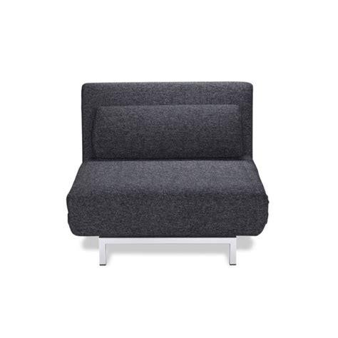 canapé une place convertible fauteuil convertible design 1 place archie coul achat