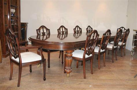 victorian dining table set  federal chairs suite