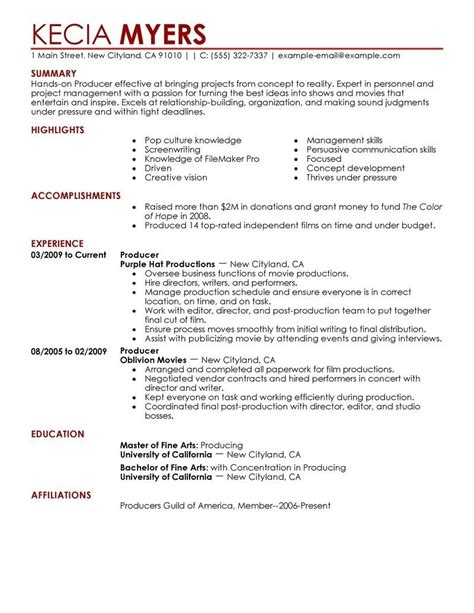 production resume template 28 images production resume