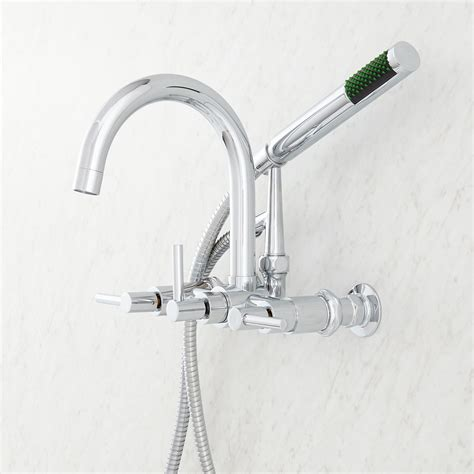 sebastian wallmount tub faucet with lever handles and