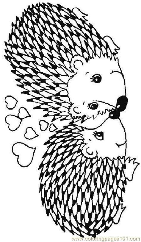 coloring page hedgehog hedgehog coloring page valentine s day pinterest