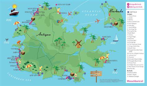 antigua and barbuda map ttg sponsored follow antigua and barbuda s bar trail