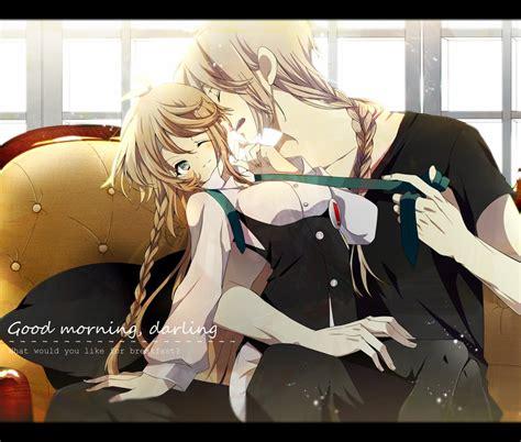anime couple good morning good morning darling by janirotluvx on deviantart