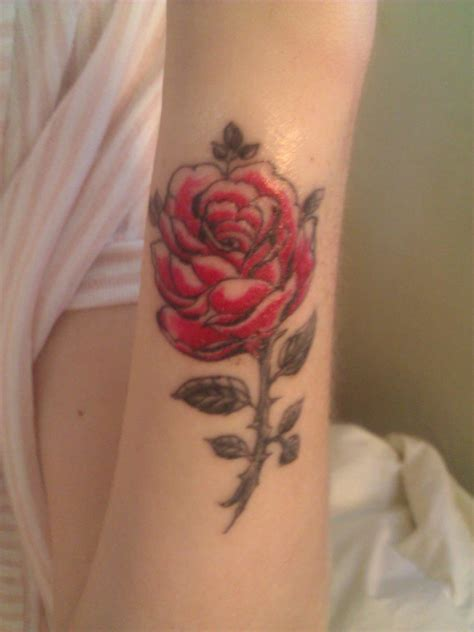 small red rose tattoo small and pink tattoomagz