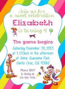 printable themed party invitations diy design den free candyland themed party printable