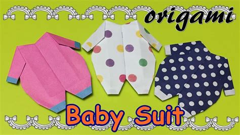Origami Baby Clothes - diy origami baby suit how to make a paper craft baby