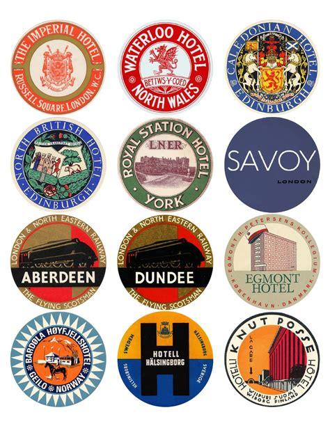 printable travel stickers 12x vintage travel stickers uk scandinavia mix vintralab