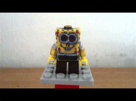 custom spongebob lego custom sponge bob minifigure tutorial spongebob
