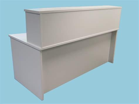Reception Desk Hutch Standard Reception Desk With Hutch Modesty 1800x800 725h 25mm White Pearl Standard