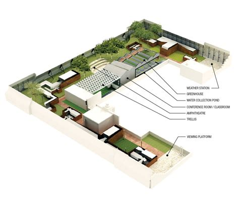 3d floor plan roof cut view 05 by jons3d on deviantart the igreen nyc ischool s green roof