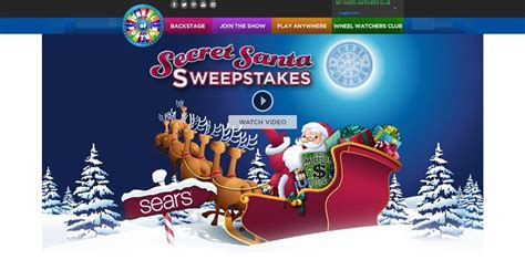 Sears Secret Santa Giveaway - wheel of fortune sears secret santa spin id sweepstakes