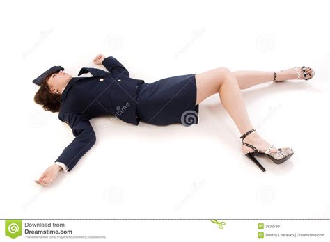 Lying To A Officer by Officer Lying On A Floor Royalty Free Stock