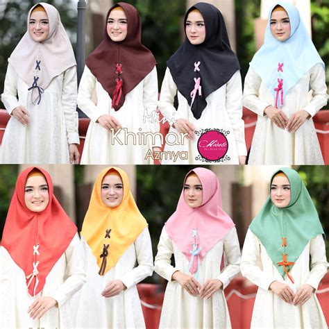 Mini Khimar Mini Khimar Azmya Original By Modelo Almanah