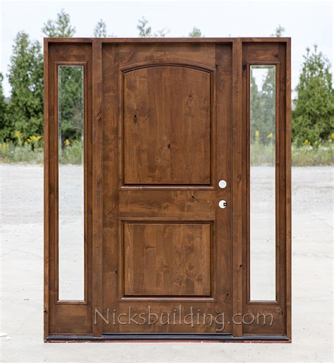 rustic knotty alder wood exterior doors cl 1451