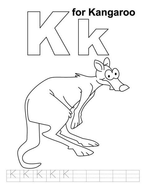 k kangaroo coloring page alphabet k is for kangaroo coloring page netart