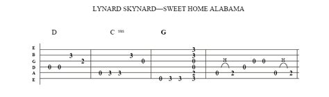 free lynryd skynyrd sweet home alabama guitar lesson