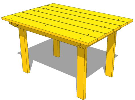 Patio Wood Table Patio Table Plans