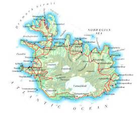 road map with cities maps of iceland detailed map of iceland in