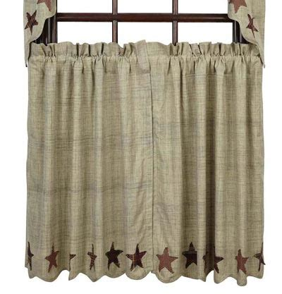 36 inch cafe curtains abilene star cafe curtains 36 inch tiers by vhc brands