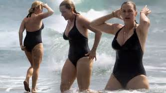 Kate winslet bares curvy beach body during getaway to new zealand