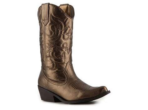 madden sanguine metallic western boot dsw
