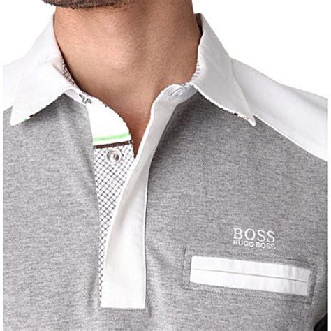 Vr 167247 Yuzi White Kemeja hugo contrast stripe rugby shirt grey white s leisurewear what s on trend