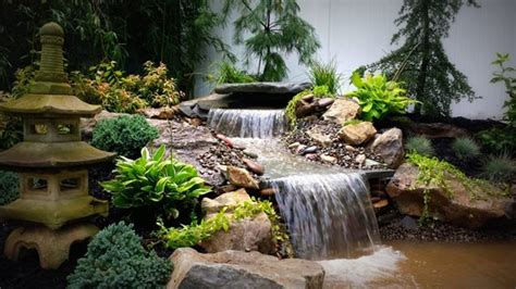 Waterfall Landscaping Ideas Pond And Waterfall Massapequa Ny Photo Gallery Landscaping Network