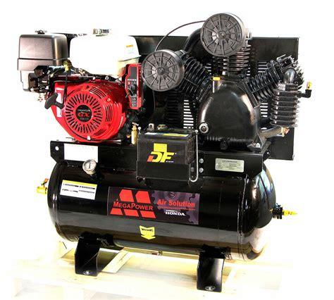 mega air compressor hp honda gx gas drive service truck  gallons ebay