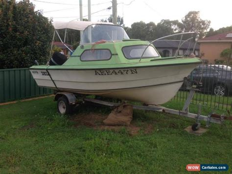 Boats With Cabins For Sale by 18 Ft Half Cabin Boat For Sale In Australia