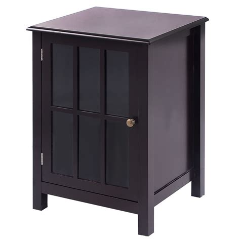 2 Door Cabinet With Shelves New One Door Accent Cabinet Storage Cabinet 2 Shelf Display Home Decor Coffee Ebay