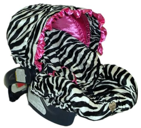 zebra print baby car seat covers baby zoe zebra pink ruffle baby carseat cover