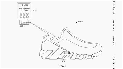Nike Tracking Safety nike granted patent for smart shoe with in built fitness