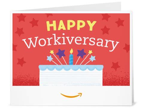 Amazon Gift Card Print At Home - amazon com amazon gift card print happy workiversary gift cards