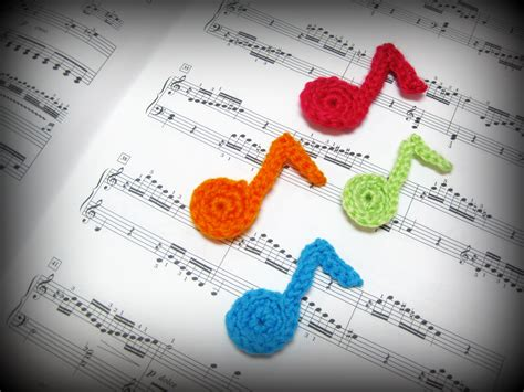 crochet pattern music notes crochet musical note tutorial blog of joy