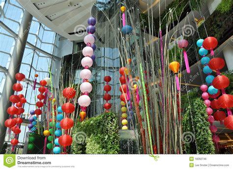 new year bamboo decoration bangkok thailand lanterns editorial photo