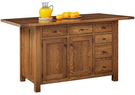 pocatello 6 drawer kitchen island countryside amish