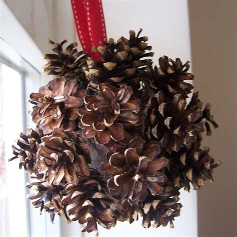 diy pine cone christmas ornament pinecones pinterest