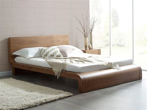 modern beds roma natural walnut contemporary bed modern bedroom
