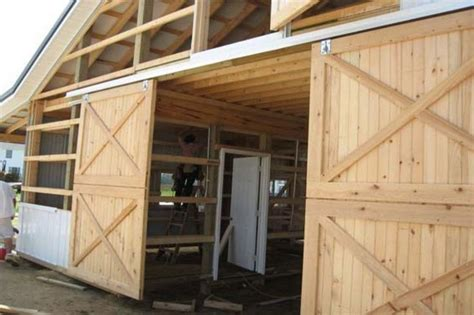 exterior sliding barn door hardware  crossed braces