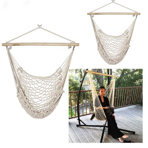 Hanging Porch Chair by 2 Swing Rope Hammock Porch Cotton Patio Garden Hanging Air