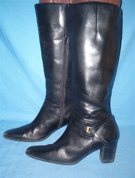 a1587 victoria spenser black 2 1 2 inch heel knee high