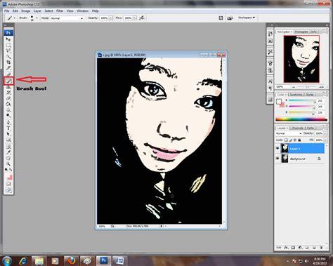 cara membuat efek poster di photoshop cara membuat efek kartun di photoshop nurhasanah