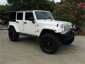 white jeep wrangler unlimited lifted image 129