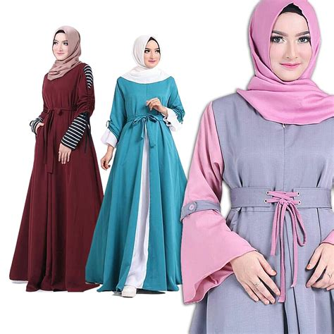 Baju Muslim Wanita Ar1923 view dress anak kaos katun balon spandeks newest model specifications cek harga harga