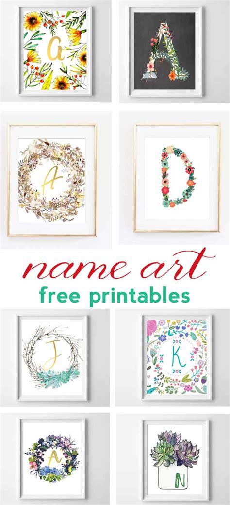 name and alphabet printables free printable