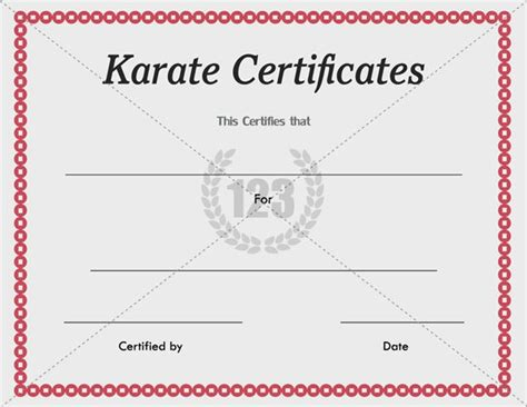 karate certificates templates free 7 best certificate images on certificate