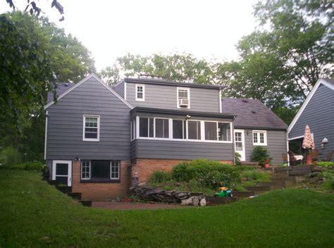 grey house white trim grey house with white trim