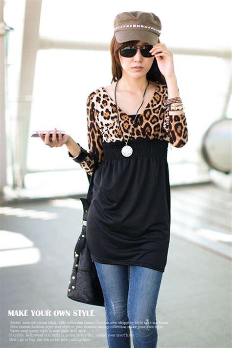 Atasan Leopard Hitam Katun Chiffon Murah Import baju leopard wanita import panjang model terbaru jual