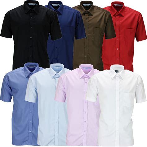 Sleeve Plain Dress Shirt new mens sleeve shirt button up business work smart
