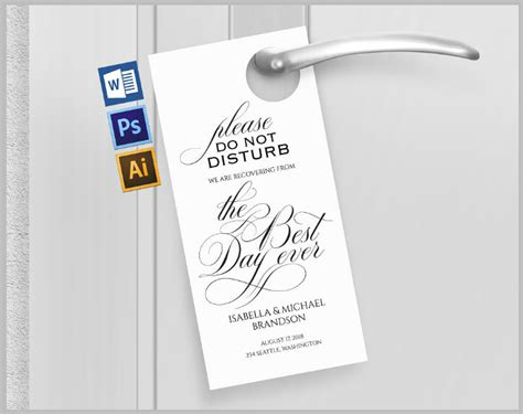 wedding door hangers template wedding door hanger template www imgkid the image